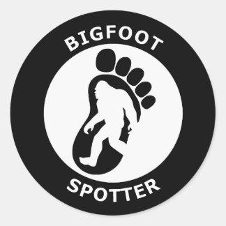 Bigfoot Spotter Round Sticker