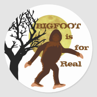 Bigfoot Squatch is For Real Moonlight Sticker