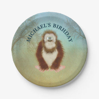 Bigfoot/Squatch Personalized Birthday Celebration Paper Plate
