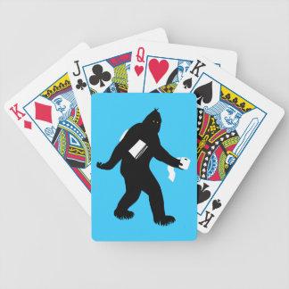Bigfoot Surprised Bicycle Playing Cards