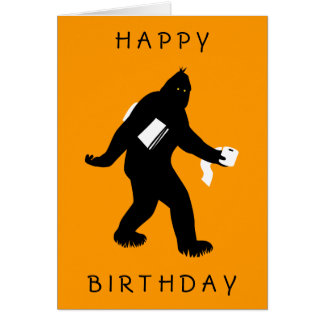 Bigfoot Surprised Card