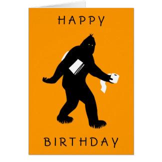 Bigfoot Surprised Greeting Card