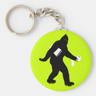 Bigfoot Surprised Key Ring