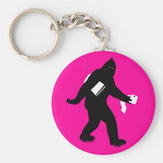 Bigfoot Surprised Key Chains