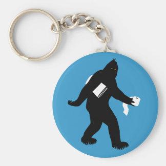 Bigfoot Surprised Key Ring