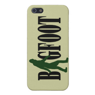 Bigfoot text and green squatch graphic case for iPhone 5/5S
