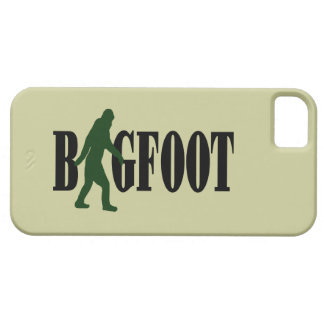Bigfoot text & green squatch graphic barely there iPhone 5 case