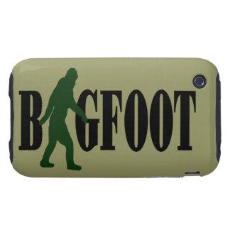 Bigfoot text green squatch graphic tough iPhone 3 case