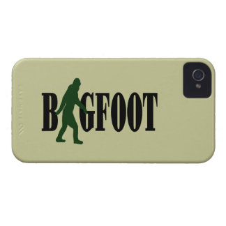 Bigfoot text & green squatch graphic iPhone 4 case