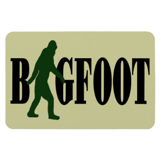 Bigfoot text & green squatch graphic magnet