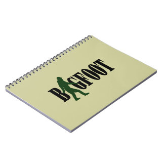 Bigfoot text & green squatch graphic notebooks