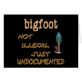 Bigfoot Undocumented Card