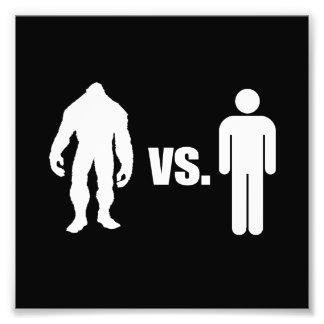 Bigfoot VS Human Photo Print