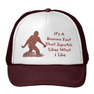 Bigfoot Walking Sasquatch Geeky Squatch Facts Cap