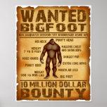 Bigfoot Wanted Poster 10 Million Dollar Bounty