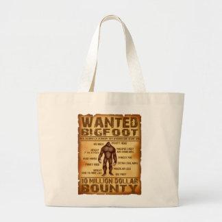 Bigfoot Wanted Poster 10 Million Dollar Bounty Jumbo Tote Bag