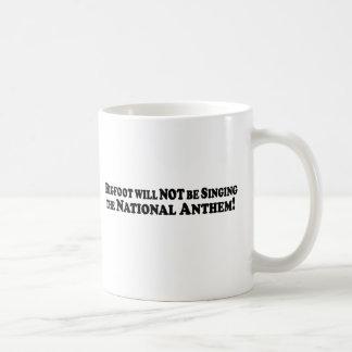 Bigfoot will NOT be Singing the Nat Anthem - Basic Mug