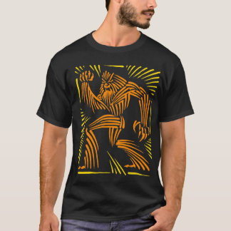 Bigfoot Woodcut Graphic T-Shirt
