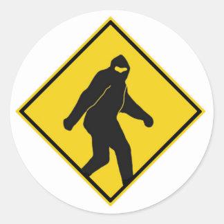Bigfoot Xing Classic Round Sticker