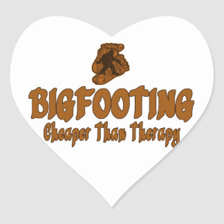 Bigfooting Cheaper Than Therapy Heart Stickers