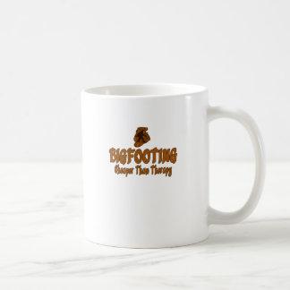 Bigfooting Cheaper Than Therapy Basic White Mug