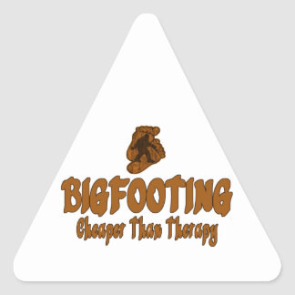 Bigfooting Cheaper Than Therapy Triangle Sticker