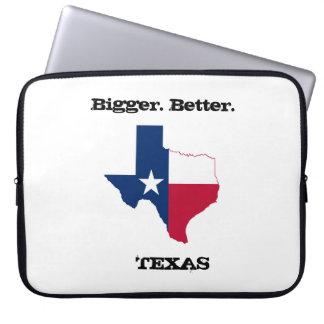 "Bigger. Better. Texas' 15"" laptop case Laptop Sleeve"