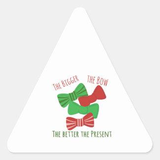 Bigger Bow Triangle Sticker