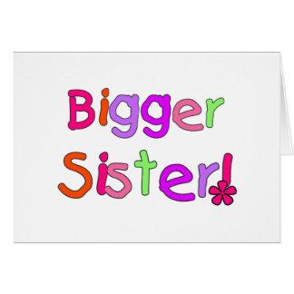 Bigger Sister Tshirts and Gifts Greeting Card