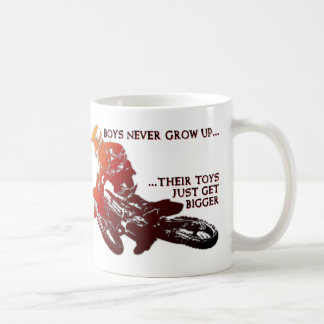 Bigger Toys Dirt Bike Motocross Funny Mug