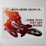 Bigger Toys Dirt Bike Motocross Poster Sign
