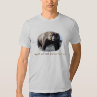 Biggest and Best Dad Brown Bear Amer apparel Tee