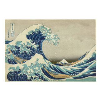"""Biggest & Best Quality """"The Great Wave"""" by Hokusai Photograph"""