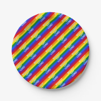 BIGGEST GAY LORD PAPER PLATE