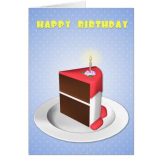 Biggest Slice Birthday Card