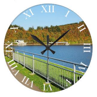 Biggetalsperre in the autumn large clock