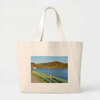 Biggetalsperre in the autumn large tote bag