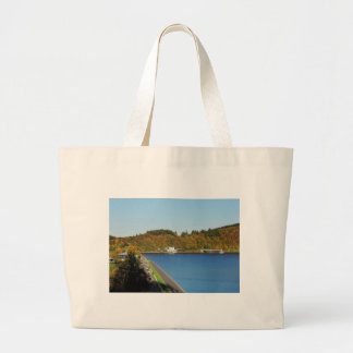 Biggetalsperre in the autumn large tote bag