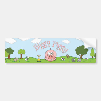 Biggy Piggy Sticker Bumper Sticker