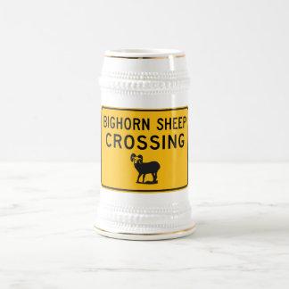 Bighorn Sheep Crossing, Washington, USA Beer Steins