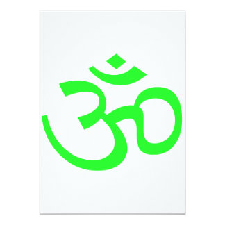 Bight Green Om or Aum ॐ.png Personalized Invite