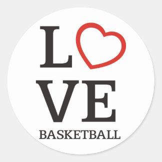 bigLOVE-basketball. Classic Round Sticker