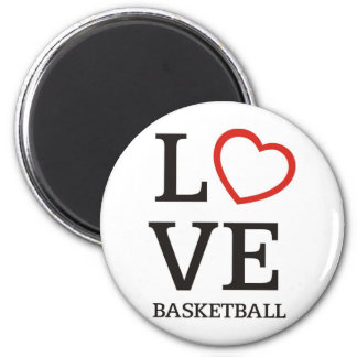 bigLOVE-basketball. 6 Cm Round Magnet