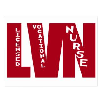 BigRed LVN - LICENSED VOCATIONAL NURSE Postcard