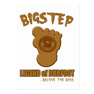Bigstep Legend of Dubfoot FUNNY BIGFOOT DUBSTEP Postcard