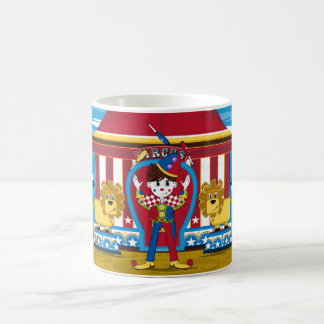 Bigtop Juggling Circus Clown and Lions Coffee Mug