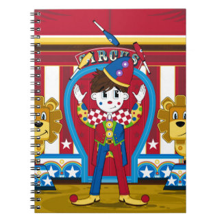 Bigtop Juggling Circus Clown and Lions Notebook
