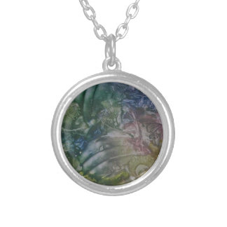 Bijewastekeningprint on collar silver plated necklace
