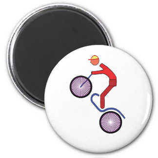 Bike 6 Cm Round Magnet