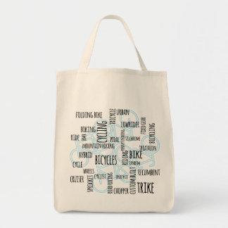 bike and cycling graphic tote bag
